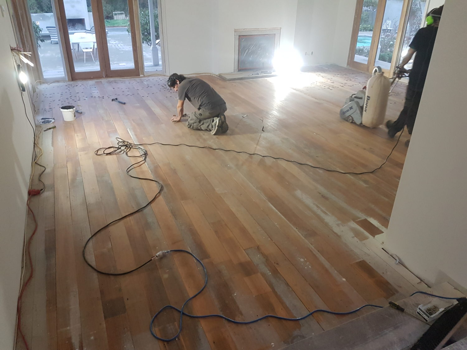 Falcon flooring wellington floor sanding and polishing for Best way to get oil out of concrete