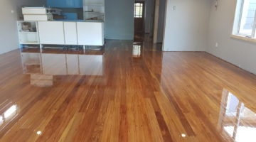 Uplifted Rimu re-installed and sanded and polished 2